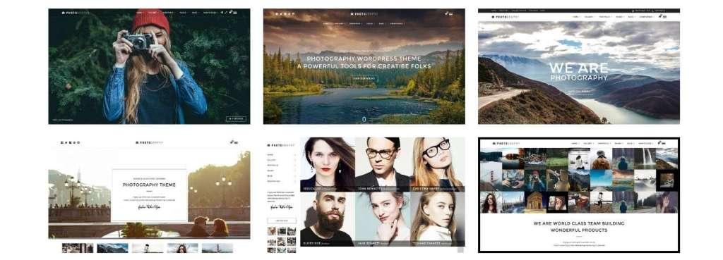 гибкие шаблоны фотограф для WordPress - премиум дизайн и функции 2017