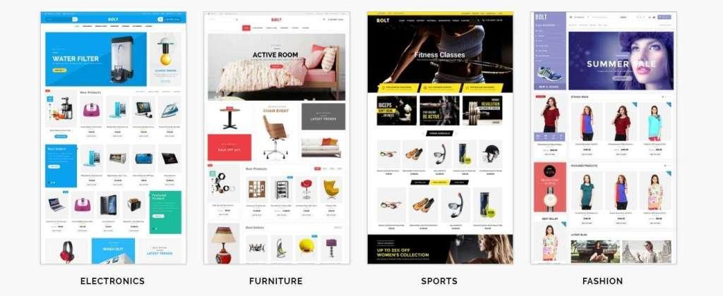 красивые платные шаблоны OpenCart с премиум дизайном и функциями 2017