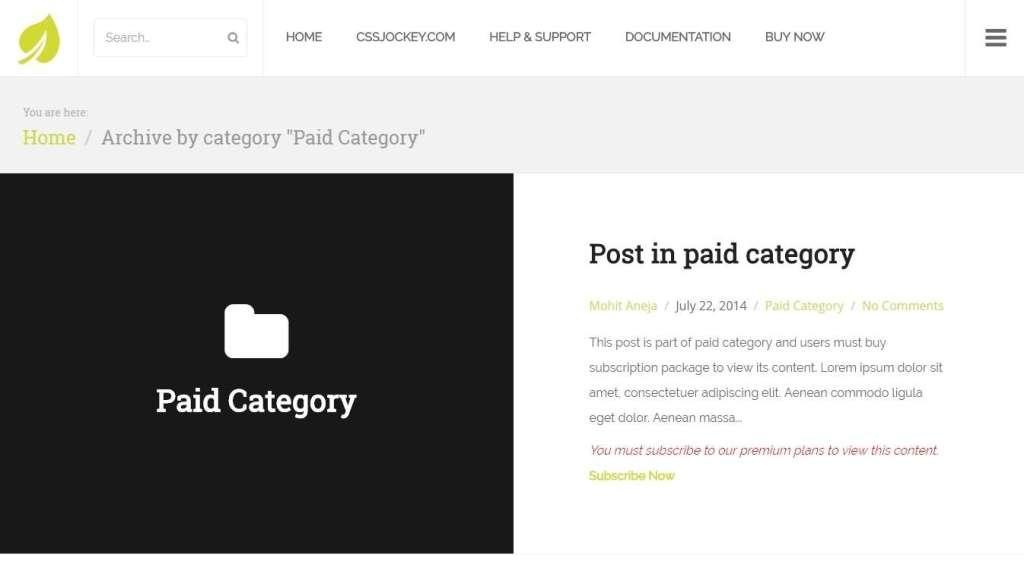 полезные плагины WordPress платный доступ 2017