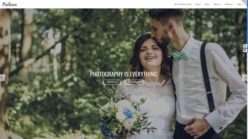 Шаблоны фотограф для WordPress – Готовый сайт фотографа 03