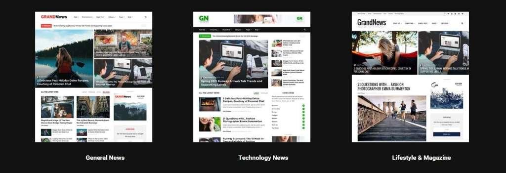 лучшие шаблоны новостных порталов на WordPress 2017 02