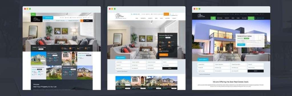 лучший шаблон портала недвижимости c премиум дизайном 3