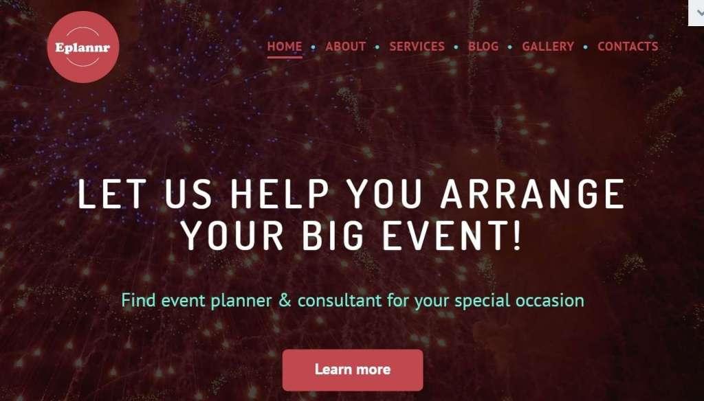 шаблоны сайта организации праздников и мероприятий 2017 2