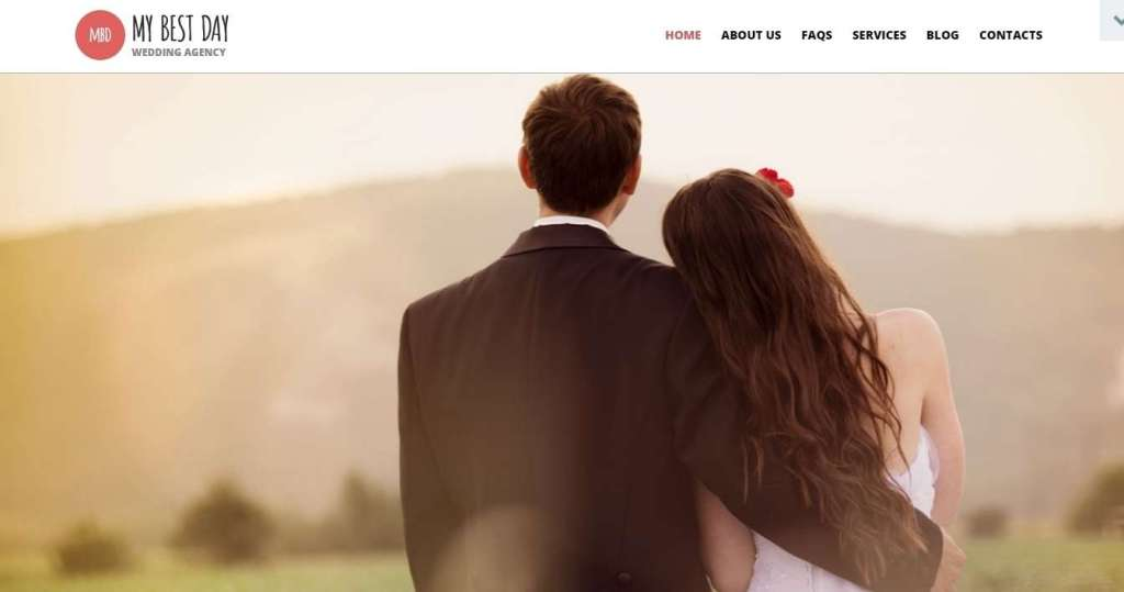 лучший шаблон сайта свадебного агентства 2017 3