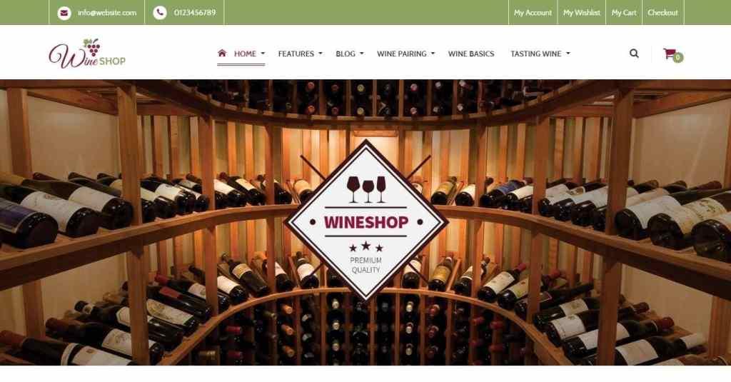шаблон винный магазин - готовые Woocommerce интернет-магазины для виноделов 3