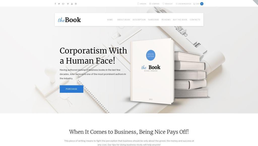 Готовый одностраничный интернет магазин WooCommerce на базе шаблона 02