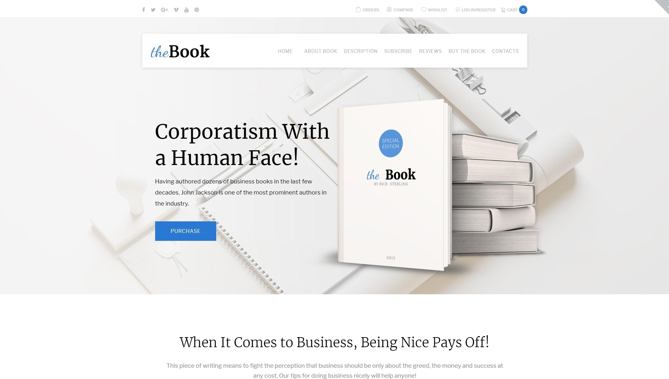 The Book – качественный одностраничный интернет магазин книжек и печатной  продукции на Вордпресс fe2341fc56b