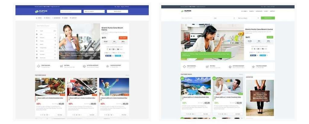 классные шаблоны сайта купонов и скидок на WordPress