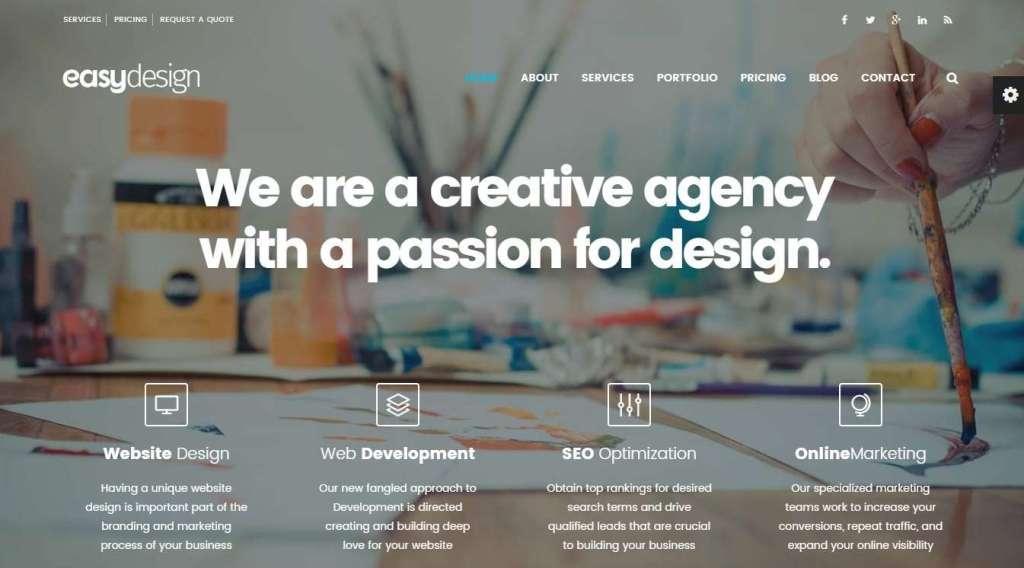 лучшие шаблоны сайта дизайн студии 2017 07