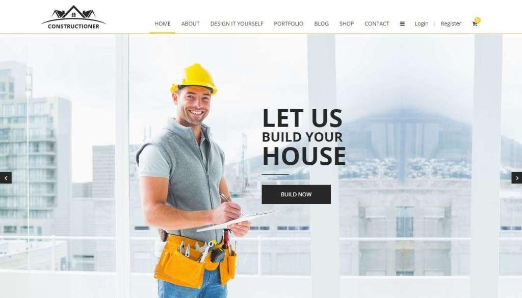 крутые шаблоны сайтов строительство домов и ремонт