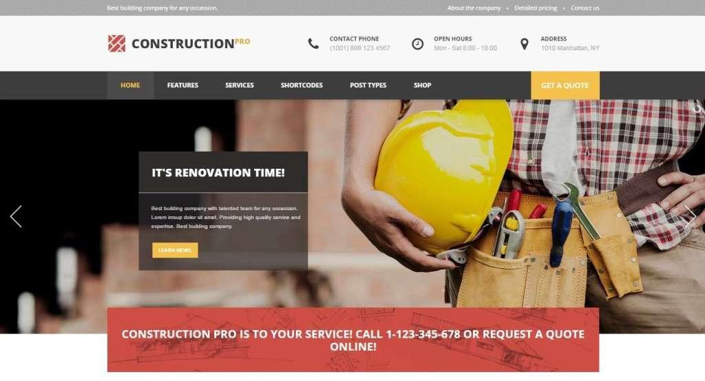 лучшие шаблоны сайтов строительство домов и ремонт