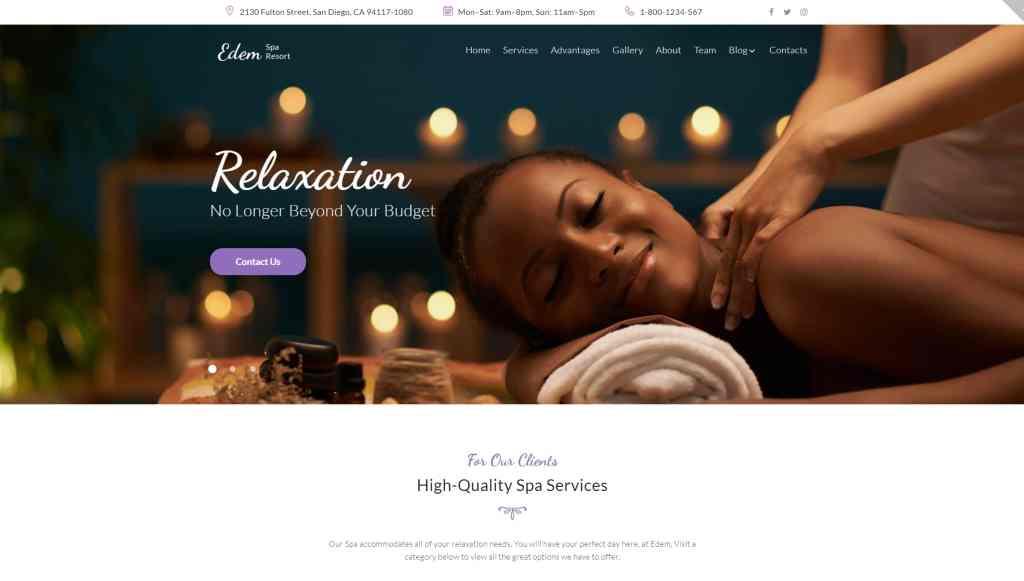 шаблоны WordPress для салона красоты и SPA с онлайн-записью 02