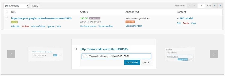 проверка исходящих ссылок – Как исправить или удалить нерабочие ссылки с сайта WordPress 10