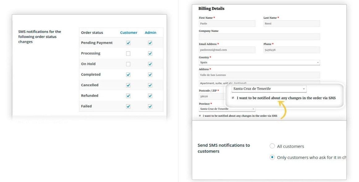 WooCommerce SMS оповещения – Как завоевать доверие покупателей 3
