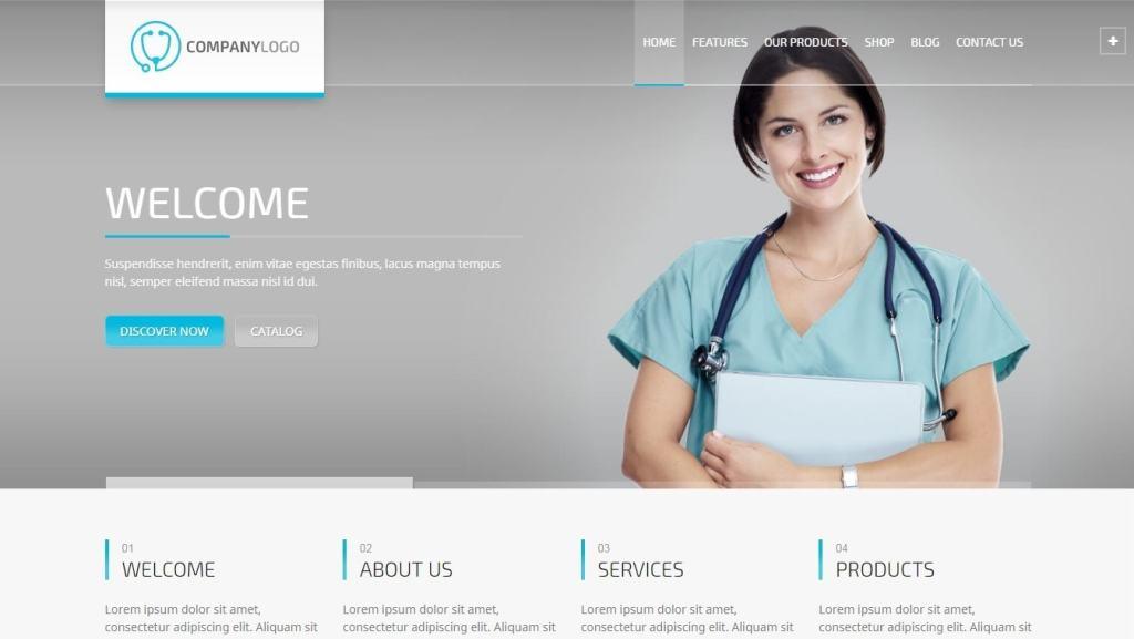 шаблоны сайта лаборатории: медицинские темы с каталогом и калькулятором цен 5