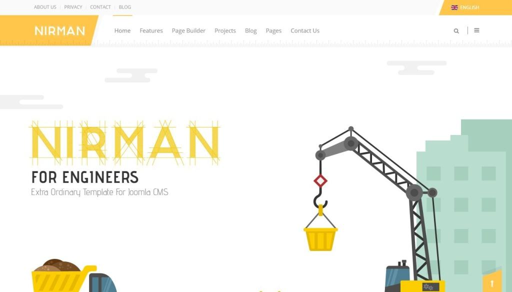 шаблоны Joomla строительная компания с блогом и магазином 7