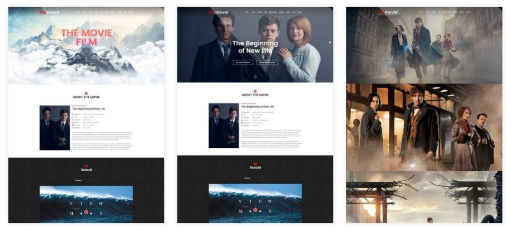 шаблоны WordPress для онлайн кинотеатра с бронированием и интеграцией IMDb 3