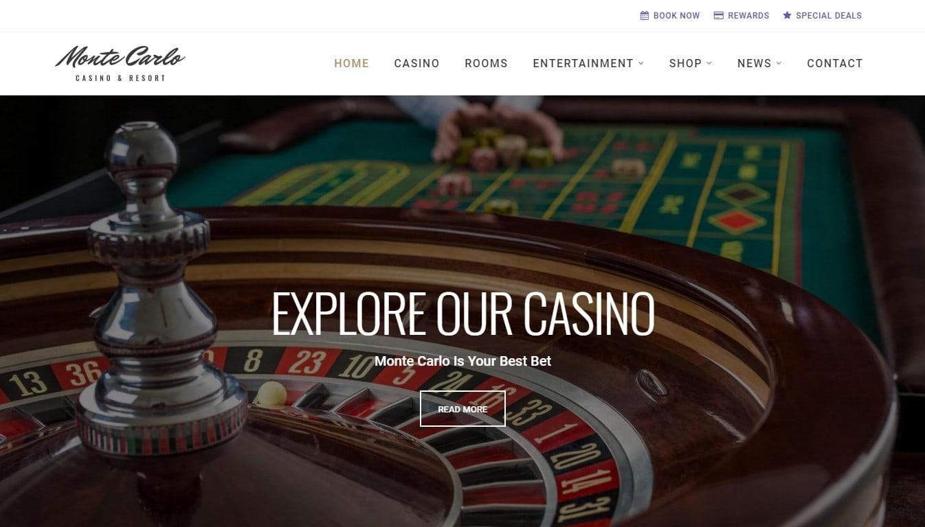 Шаблоны готовых сайтов казино фирменные знаки казино в картинках