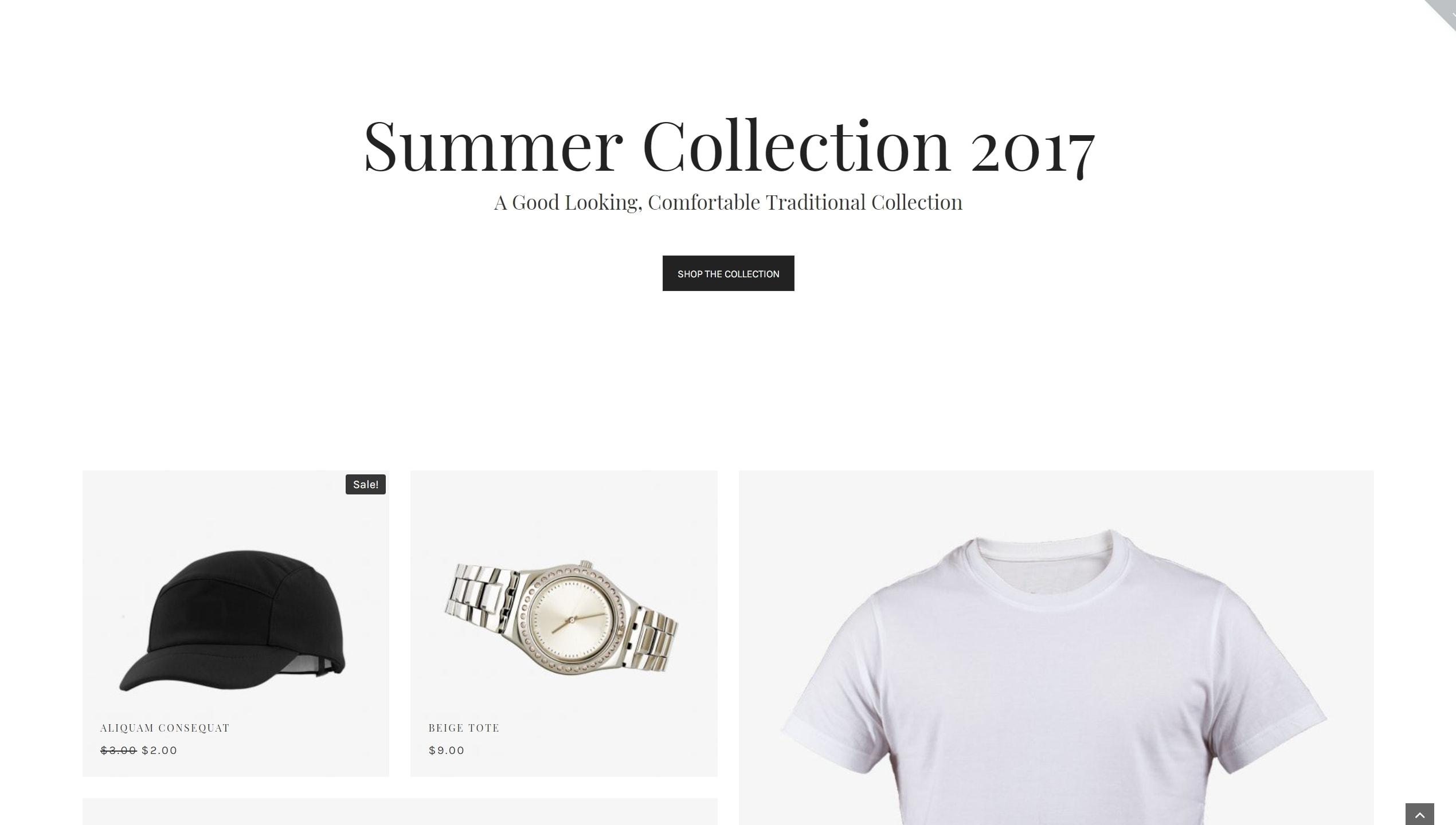Mira – готовый шаблон интернет магазина WordPress для одежды и модных  аксессуаров c7afb2d383c