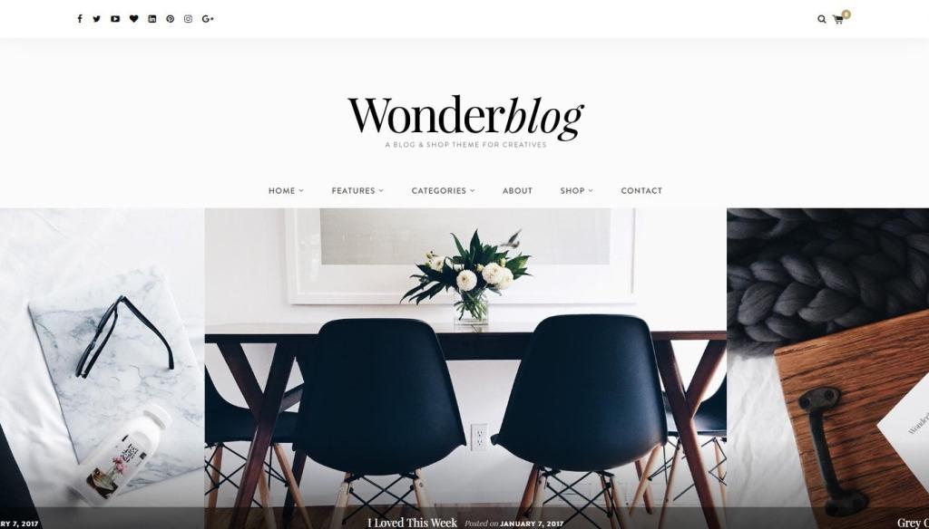 красивые шаблоны сайтов: готовый блог, портфолио, магазин или лендинг 03