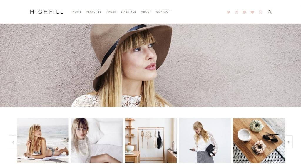 красивые шаблоны сайтов: готовый блог, портфолио, магазин или лендинг 04
