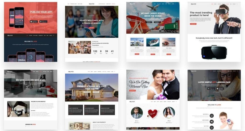 красивые шаблоны сайтов: готовый блог, портфолио, магазин или лендинг 10