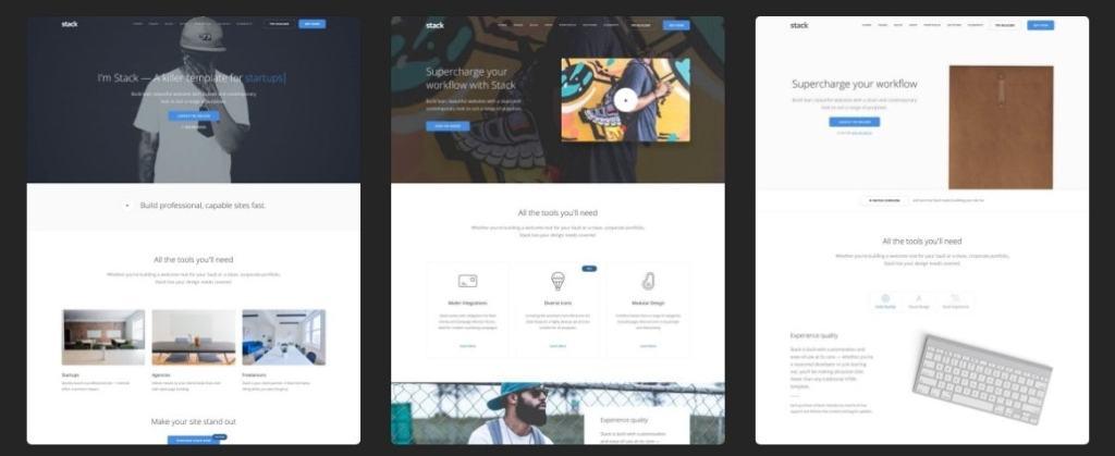 лучшие шаблоны веб сайтов 2018 с современным функционалом и дизайном 01