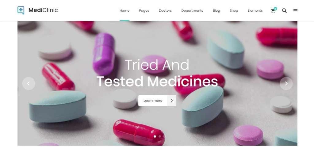 шаблон сайта аптеки с продажей лекарств онлайн 3