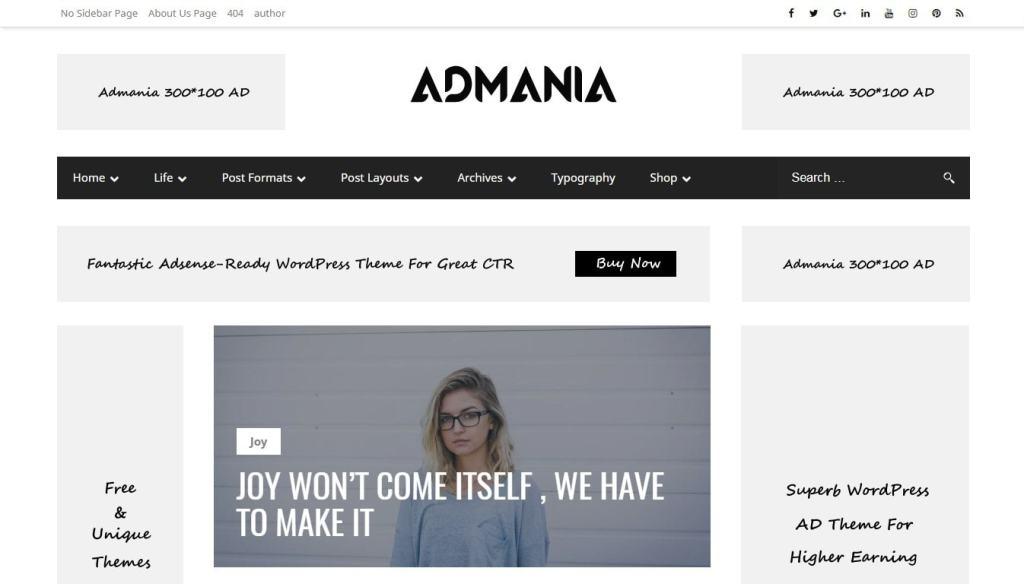 шаблон сайта онлайн для блога, бизнеса, портфолио, магазина и каталога 08