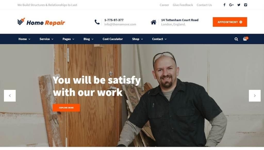 шаблон сайта дверей для фирм с калькулятором стоимости услуг 3