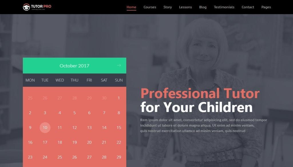 шаблон сайта для учителя с календарем и онлайн-оплатой 3
