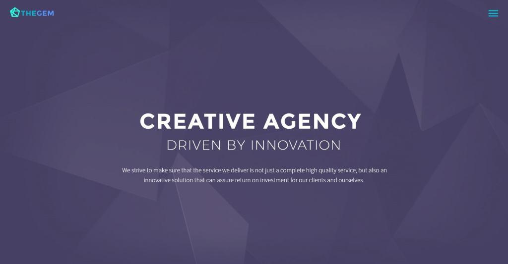 красивый макет сайта для привлечения посетителей 01