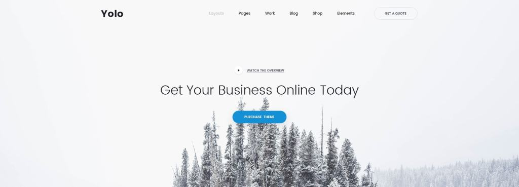 красивый макет сайта для привлечения посетителей 04