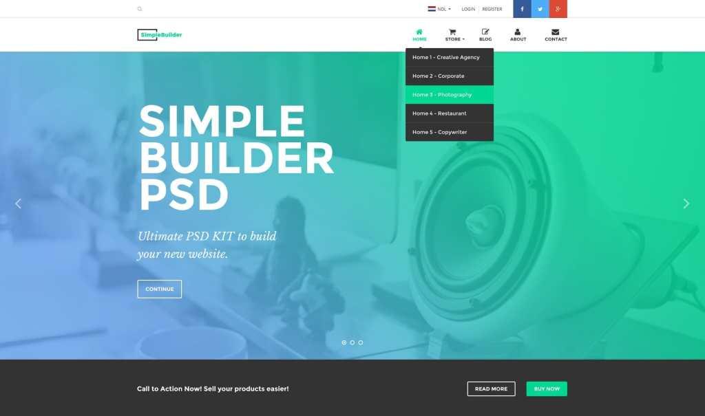 макет сайта Bootstrap для отзывчивых веб-ресурсов 09
