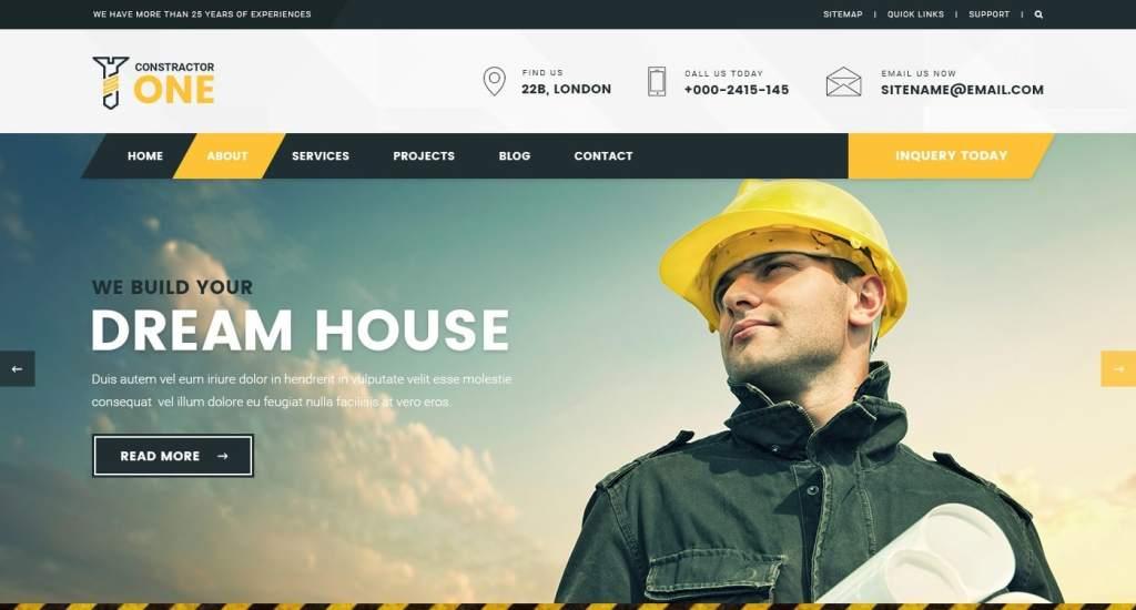 макет строительного сайта для серьезного бизнеса 12