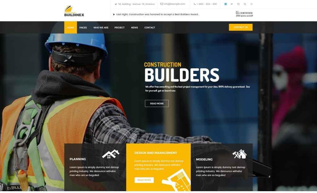 макет строительного сайта для серьезного бизнеса 16