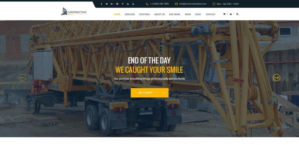 макет строительного сайта для серьезного бизнеса 18