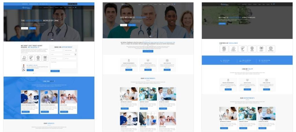 адаптивные шаблоны медицина HTML с онлайн-формой записи 02