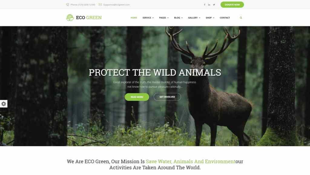 сайт экологической организации на WordPress с функцией сбора средств 07