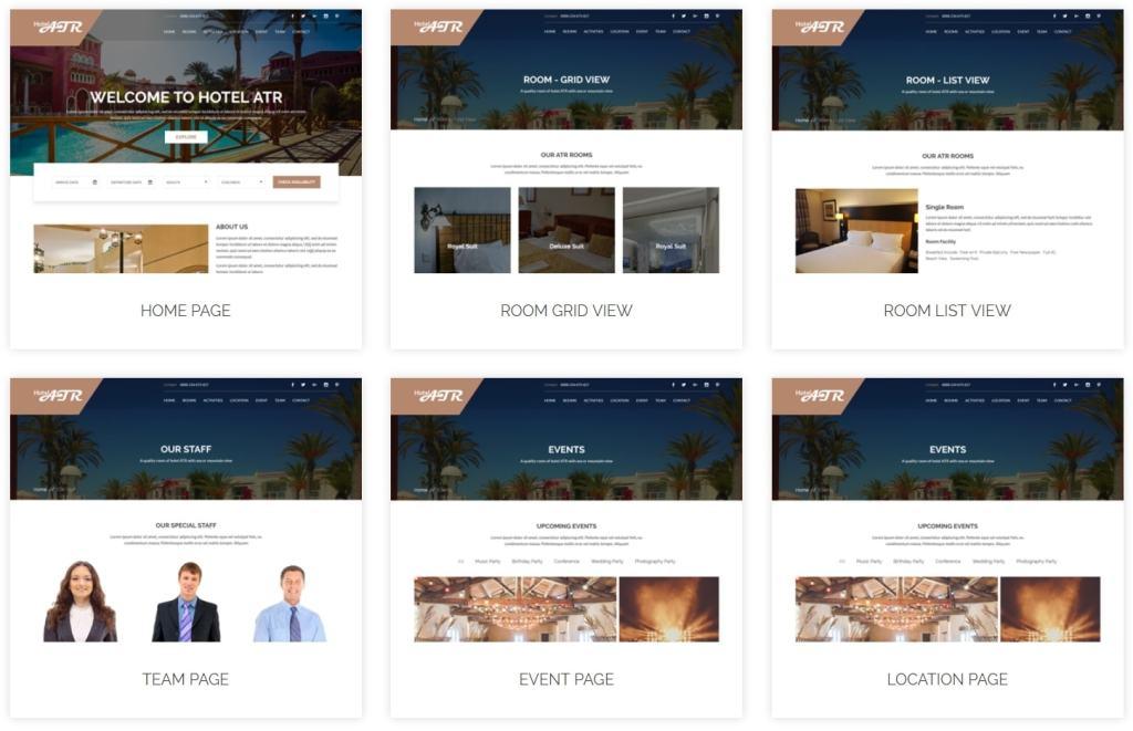 шаблон сайта гостиницы HTML с онлайн-поиском номеров 13