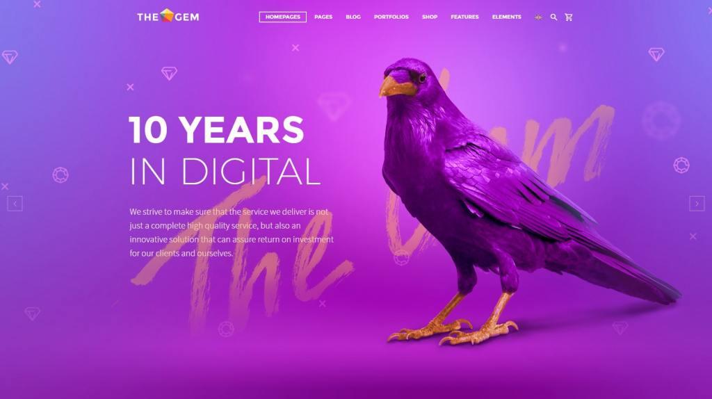 PSD макеты сайтов – 50 дизайнерских концепций для вашего бизнеса 01