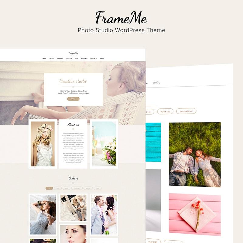 FrameMe - шаблон WordPress сайта студии фотографии