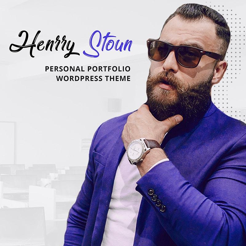 WordPress шаблон Henry Stoun - Personal Website