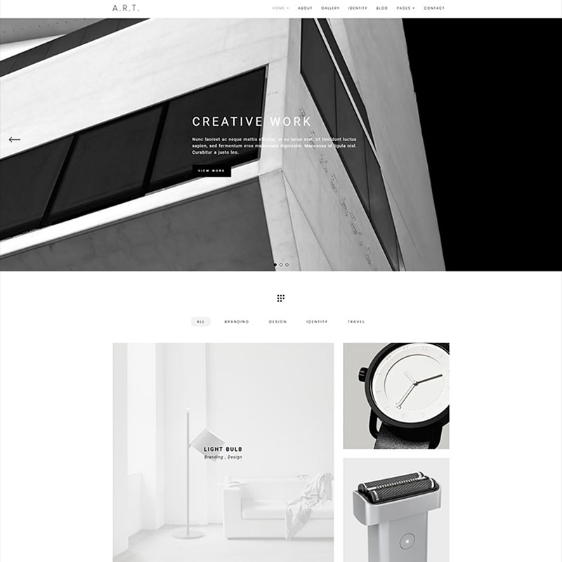 WordPress шаблон Art - Minimal Portfolio & Photography