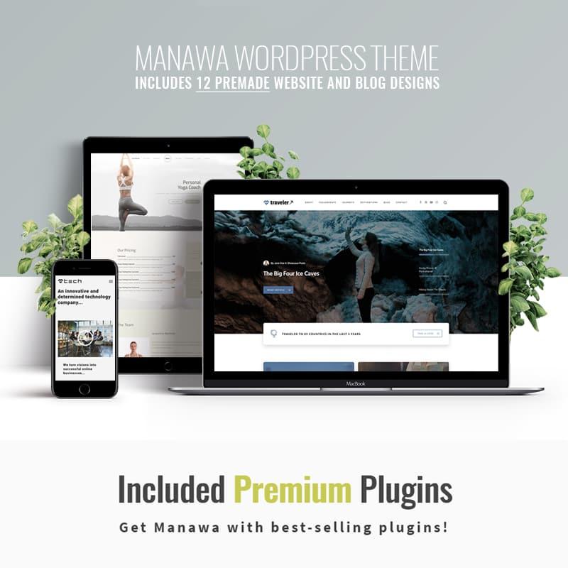 WordPress шаблон Manawa - Multi-Purpose WordPress Theme