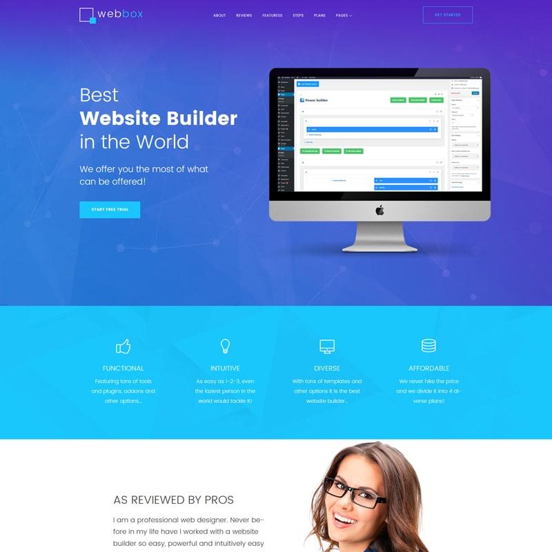 WordPress шаблон Webbox на тему веб-разработка