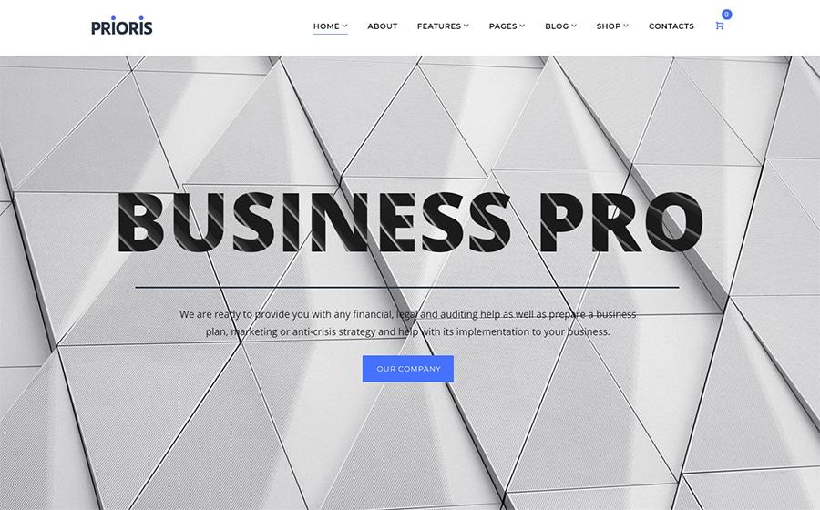 WordPress шаблон Prioris - Consulting Agency Elementor