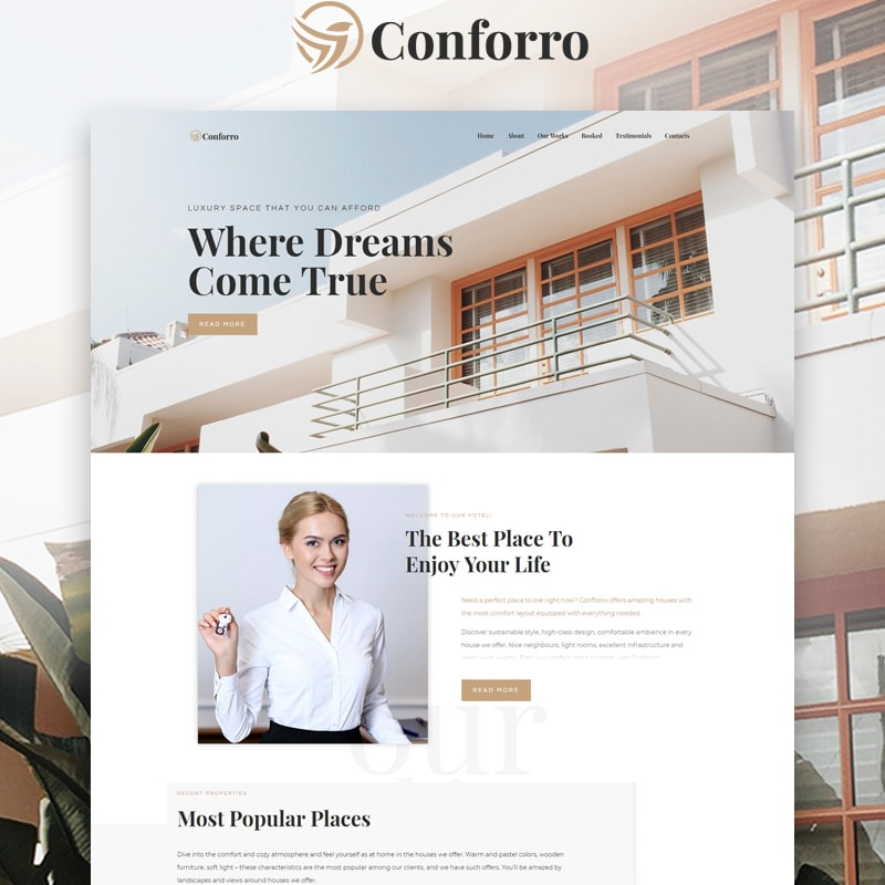 WordPress шаблон Conforro - Real Estate Elemetor
