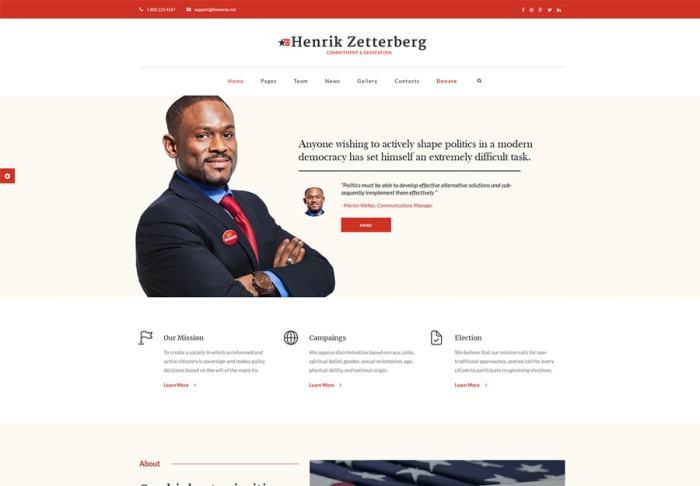 Candidate - Political / Non-profit WordPress Theme