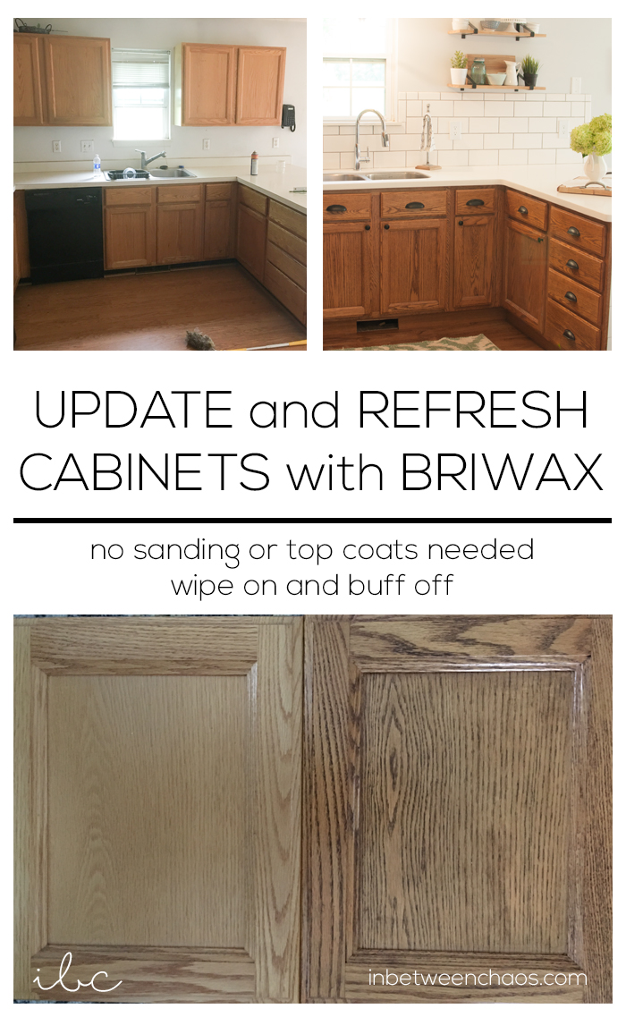 cost to refinish kitchen cabinets sit at island refreshing worn wood with briwax
